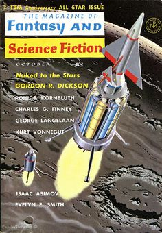 scificovers:  The Magazine of Fantasy and Science Fiction October 1961. Contains Harrison Bergeron by Kurt Vonnegut Jr. Cover by Chesley Bonestell.