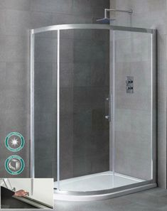 Eastbrook Cotswold Volente  Single Door Offset Quadrant Shower Enclosure