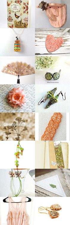 Peach passion by Olga on Etsy--Pinned+with+TreasuryPin.com