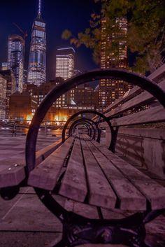 newyorkcityfeelings:New York at night by Alexander Marte Reyes
