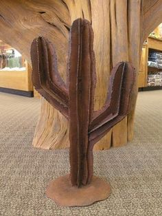 Saguaro Cactus Yard Art | Metal Garden and Lawn Art | Lema's Kokopelli Gallery Moab Utah