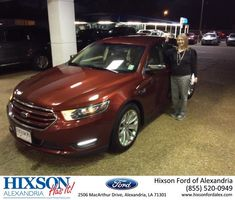 Hixson Ford of Alexandria Customer Review  I just had a pleasant experience purchasing a car from Hixson Autoplex.  I bought a beautiful Ford Taurus.  I love everything about the car.  Joel Massey and the people at the dealership were exceptional.  I got a great deal, and I will not hesitate to tell all my friends about my new car.  MargaRitta, https://deliverymaxx.com/DealerReviews.aspx?DealerCode=UDRJ&ReviewId=55123  #Review #DeliveryMAXX #HixsonFordofAlexandria
