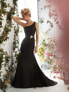 Mori Lee Voyage Wedding Dresses - Style 6768 #black #wedding #dresses