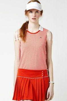 Lacoste Sleeveless Technical Pique Vintage Tennis Ball Printed Polo : Polo Shirts