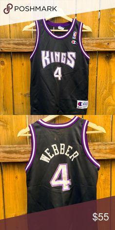 4e6f6b31c Champion NBA Jersey Sacramento Kings Chris Webber Vintage Champion Nba Sacramento  Kings  4 Chris Webber
