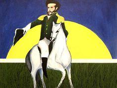 """Reprodução de quadro """"Independência"""", do artista Aldemir Martins, em exposição…"""