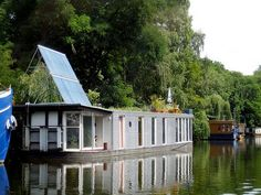 Solar powered house boat