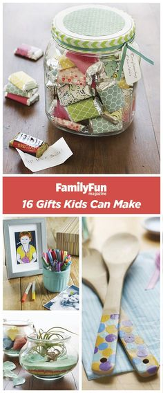 Gifts Kids Can Make: Get creative with these handmade ideas that are fun (and inexpensive!) to craft and give.