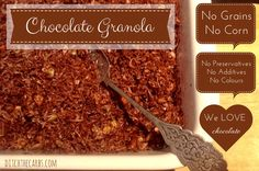 Chocolate Grain Free Granola and other breakfast recipes