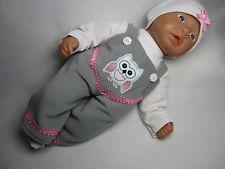 Latzhose Set für Baby Annabell 36 4-Teilig ---Eule--