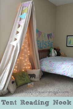 Could use isabellas old curtains and some fairy lights over the cot seat. Could be magical !!!!