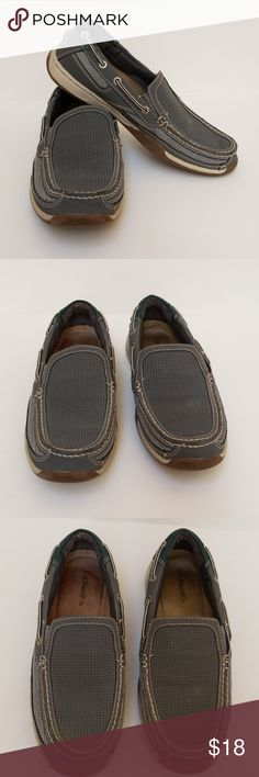 G.H. Bass Boaters G.H. Bass Boaters.  Men's Size 9, gray, slip on, leather uppers in great condition, inside and soles show wear, balance man-made materials. G.H. Bass & Co. Shoes Boat Shoes