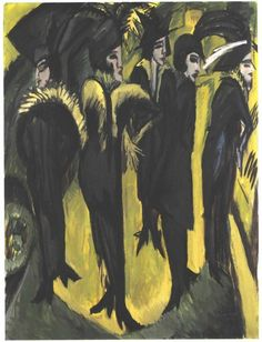 Ernst Ludwig Kirchner. Five Women in the Street, 1913. Museum Ludwig, Cologne.