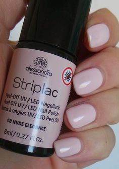 alessandro International Striplac Peel-Off UV / LED Nagellack – 08 Nude Elegance Maybelline, Vernis Semi Permanent, Red Nail Polish, Nail Shop, Nude Nails, Nail Stamping, Uv Led, Beauty Make Up, Manicure And Pedicure