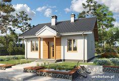 Projekt domu Miniatura - malutki domek parterowy na planie kwadratu beton komórkowy - Archeton.pl Malm, Outdoor Structures, Outdoor Decor, Small Houses, Home Decor, Projects, Little Houses, Tiny Houses, Decoration Home