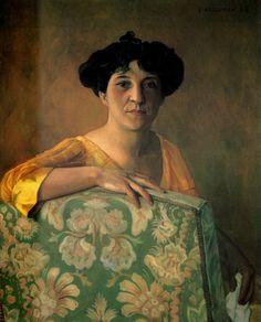 Portrait de Gabrielle Vallotton, 1908 - Felix Vallotton