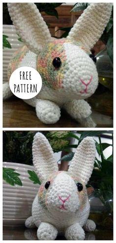 Mesmerizing Crochet an Amigurumi Rabbit Ideas. Lovely Crochet an Amigurumi Rabbit Ideas. Crochet Rabbit Free Pattern, Easter Crochet Patterns, Crochet Amigurumi Free Patterns, Cute Crochet, Crochet Dolls, Knitting Patterns, Knitting Toys, Free Knitting, Crochet Ideas