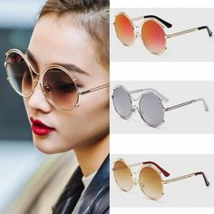 Types Of Sunglasses, Oversized Round Sunglasses, Color Combinations, Number, People, Style, Color Combos, Swag, Colour Combinations