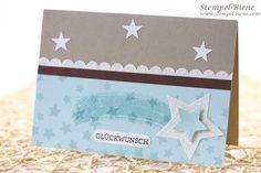 #Glückwunschkarte, #Stampin' Up Designerpapier Diamamtengleißen, #Stampin' Up Framelits Stern-Kollektion