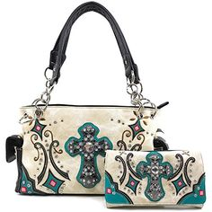 Women's Bags, Shoulder Bags,Embroidery Rhinestone Concealed - Beige Handbag Wallet Set - Source by ebagspop bag handbags wallets Bling Purses, Bling Bling, Fashion Bags, Style Fashion, Fashion Outfits, Cowgirl Outfits, Cowgirl Clothing, Concealed Carry Handbags, Evening Bags
