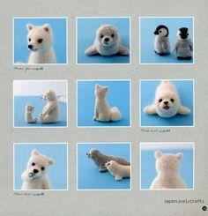 Traveling Around The World With Felt - Japanese Needle Felts Craft Pattern Book - Sachiko Susa - B873. $21.00, via Etsy.