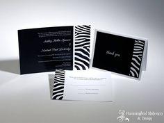 Zebra Wedding Invitations by Hummingbird Stationery & Design. Zebra Wedding, Never Getting Married, Pink Zebra, Stationery Design, Wedding Invitations, Invites, Zebra Print, Hummingbird, Wedding Inspiration