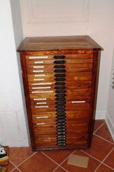 French Wooden Letterpress Printers Tray Cabinet | Wishlist ...