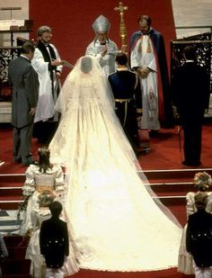 July 29, 1981: The Royal Wedding of Lady Diana Spencer to HRH Prince Charles in St. Paul's Cathedral in London ...