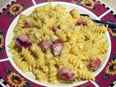 Smoked Sausage Rotini with Creamy Garlic Sauce...the sauce is so full of flavor it really makes any pasta recipe sing!   #recipe