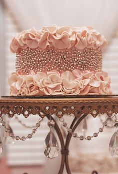 The Most Beautiful, Feminine Cake I Have Ever Seen.  Sorry, No Recipe.  Just a Beautiful Cake.