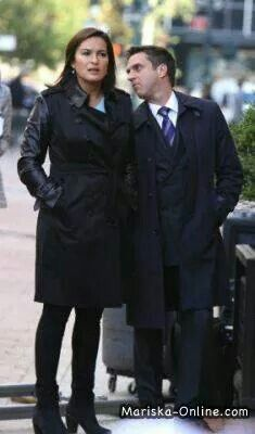 Mariska Hargitay with  Raul Esparza