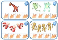 Les cartes à compter 3 et 4 Autism Activities, Activities For Kids, Math Humor, Numeracy, Learn French, Sign Language, Student Work, Teaching Math, Math Centers