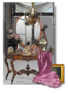 """""""Victorian Vignette"""" by auntiehelen ❤ liked on Polyvore featuring art and vintage"""