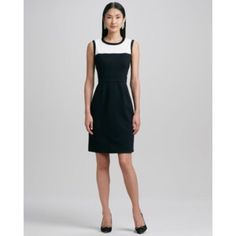 """SALE  NWT Kate spade new york """"janelle"""" dress The perfect """"little black dress"""" with a twist. This is the Kate Spade NWT """"Janelle"""" dress. Perfect for work, after work cocktails, or even a cocktail party! As Kate Spade describes, """"a contrast yoke polishes a finely tailored sheath dress shaped by darts above and below the banded waist."""" Dress is black with cream/white top. Exposed gold zipper. Size 6. With tags - never worn- perfect condition. kate spade Dresses"""