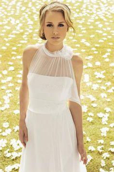 Vlečka na zem Elegantní & moderní Zip Svatební šaty 2014