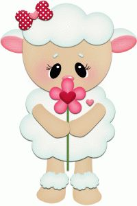 Silhouette Design Store - View Design lamb smelling flower pnc For Valentines Foam Crafts, Diy And Crafts, Paper Crafts, Smelling Flowers, Silhouette Online Store, Clip Art, Cute Clipart, Animal Cards, Applique Patterns
