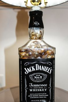 jack daniels bottle lamp DIY  bday present for my brother?