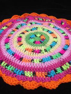 10+ Creative and Colorful Crochet Mandalas: Neon Crochet Mandala