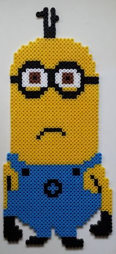Minion Dave perler beads by Joanne Schiavoni: