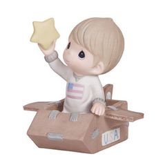 ※ New Precious Moments Figurine Shoot Rocket Star Porcelain Cardboard Boy Statue | eBay