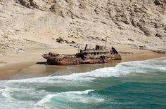 The Otavi was a steamer with a cargo of Guano. It ran aground in Spencer Bay, Namibia during 1945.
