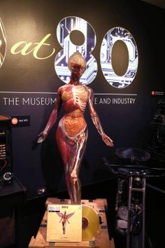 """The Nirvana Album cover of In Utero from 1993 was designed with a picture of this Museum of Science and Industry figure as a model. It's part of """"80 at 80""""."""