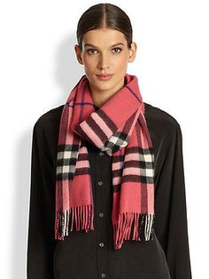 Classic Burberry plaid in pink!