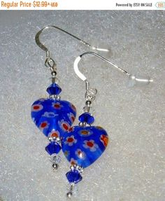 January Clearance Sale 925 Sterling Silver Cobalt by dsmenagerie