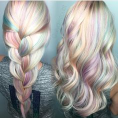 "1,661 Likes, 32 Comments - Hair Makeup Nails Beauty (@hotforbeauty) on Instagram: ""Opal hair color design by @allydestouttt Allyson your work takes my breath away  Love you …"""