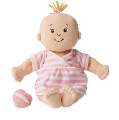 ade4840212f9 Manhattan Toy Baby Stella Peach Soft Nurturing First Baby Doll for Ages 1  Year and Up