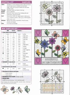 Floral birthday cards part 2 of 3 free cross stitch patterns