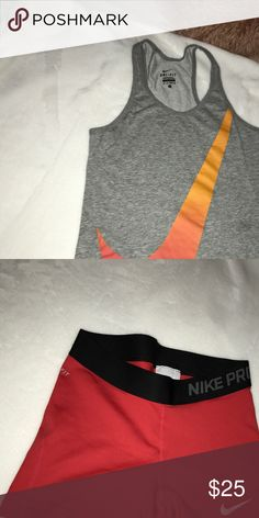 Shorts and tank Nike pro shorts and grey tank Nike Other