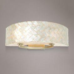 "Varaluz Radius 23"" Wide Herringbone Capiz Bath Light"