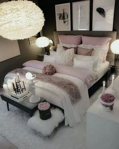 Bedroom decor - Elegant Rustic Bedroom Ideas That Will Give Your Rustic Bedroom An Uplift elegantbedroom bedroomdesign bedroomideas ~ Beautiful House Girl Bedroom Designs, Room Ideas Bedroom, Master Bedroom Design, Home Decor Bedroom, Living Room Decor, Bed Room, Bedroom Furniture, Master Suite, Bedroom Girls